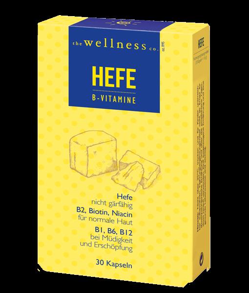 Produktverpackung von Hefe Kapseln mit B-Vitaminen
