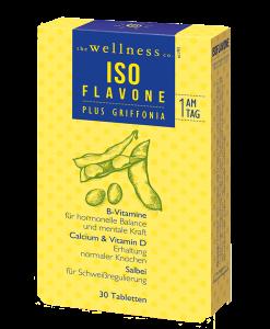 Produktverpackung von ISO FLAVONE plus Griffonia Tabletten